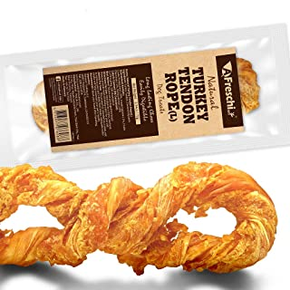 AFreschi Turkey Tendon for Dogs, Premium All-Natural, Hypoallergenic, Long-Lasting Dog Chew Treat, Easy to Digest, Alternative to Rawhide, Ingredient Sourced from USA, 1 Unit/Pack Rope (Large)