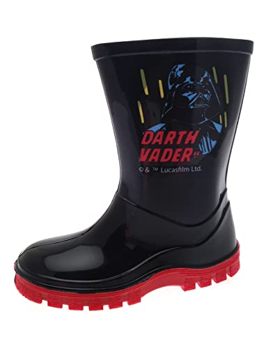 Disney Kids Boys Star Wars Darth Vader Wellington Boots Wellies Boots Size  UK 7