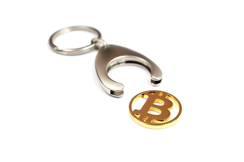 Bitcoin llavero (con ficha para el carro de la compra ...