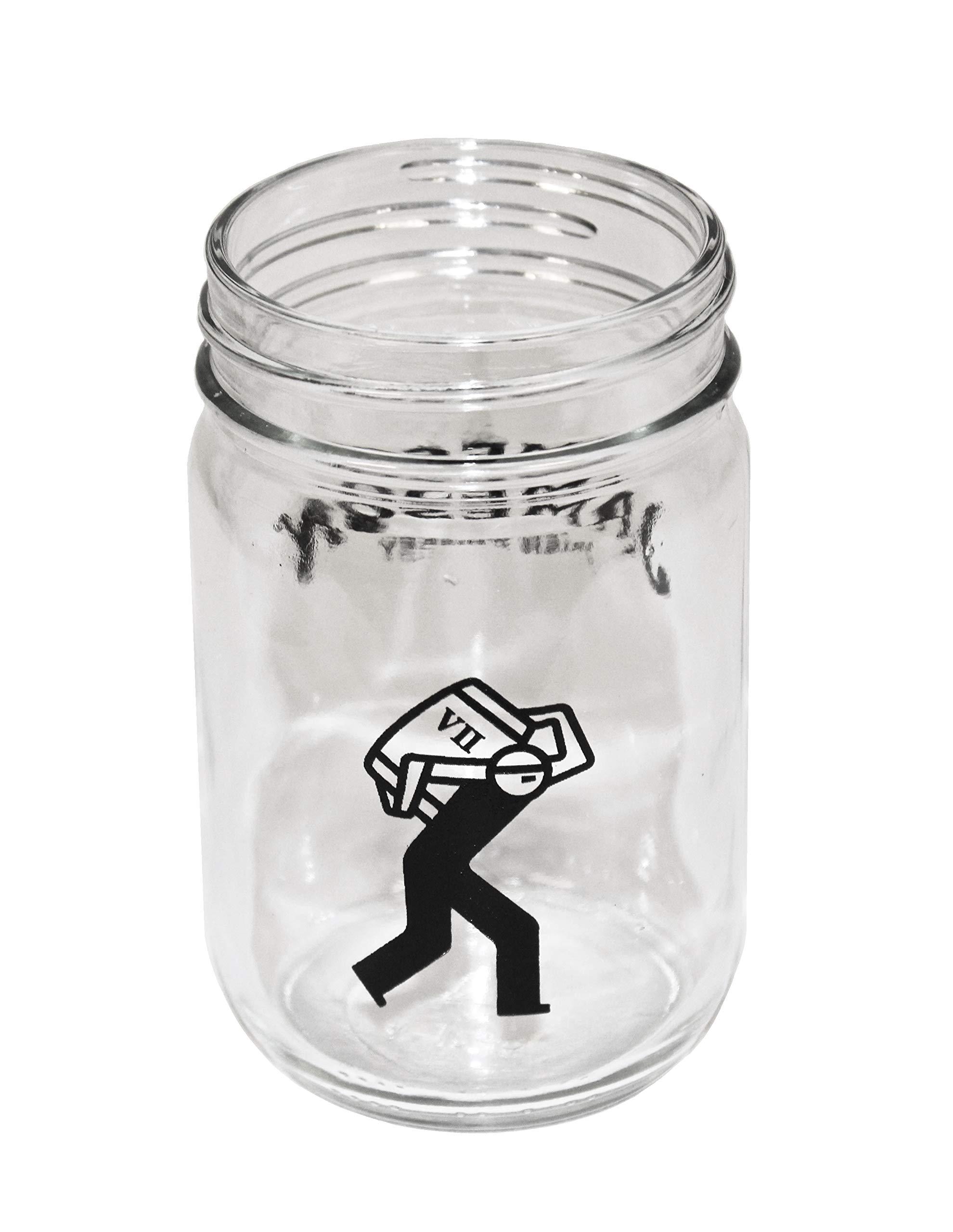 """Jameson Irish Whiskey""""Irish Mule"""" Mason Jar Glass- Barrelman Logo"""