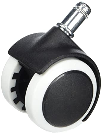 Schwarz TKD3200 Black TUKA B/üro-Stuhl-Rollen f/ür Hartb/öden Stuhlrollen Parkett 11 mm 5X Set Hartbodenrollen B/ürostuhl Drehstuhl Rollen