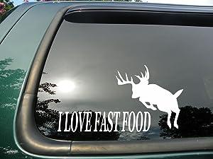 Fast Food Buck Jumping- Die Cut Vinyl Window Decal/sticker for Car or Truck 3.5