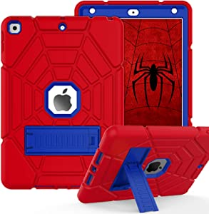 ZoneFoker Case for iPad 8th/7th Generation Case, iPad 10.2 Case 2020/2019, Heavy Duty Shockproof Protective 3-Layer Hybrid iPad Cover for Kids Boys with Stand for Apple iPad 10.2