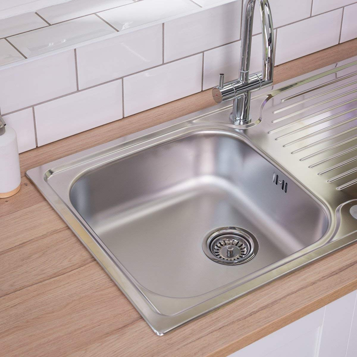 Astracast parallel 965 x 500mm stainless steel 1 0 bowl kitchen sink wastes amazon co uk diy tools