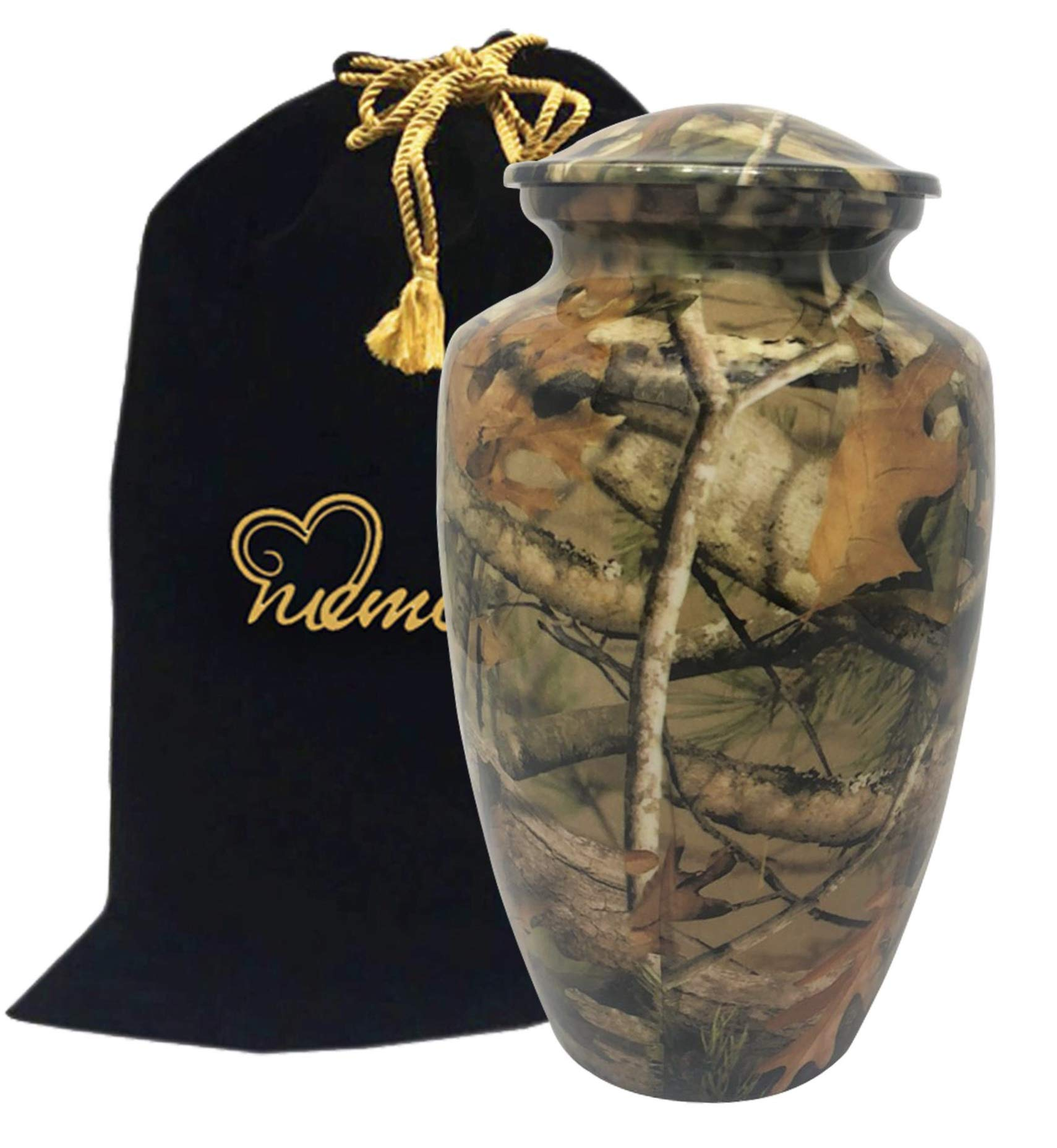 Woodstock Camouflage Urn - Solid Metal Camouflage Urn - Affordable Camouflage Urn for Human Ashes (Large)