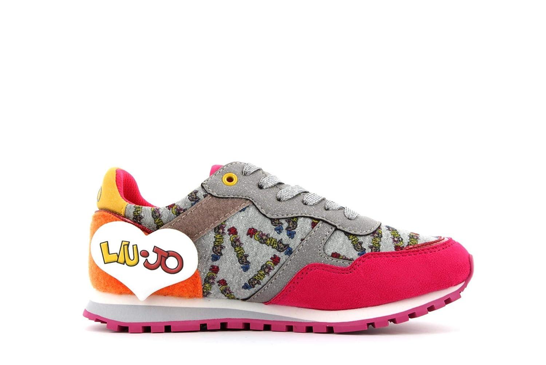 33 EU Liu-Jo Me Contro Te Sneakers Lacci Bimba//Ragazza in Tessuto Glitter E VECLRO Adesivi 4XX799TX082//00021