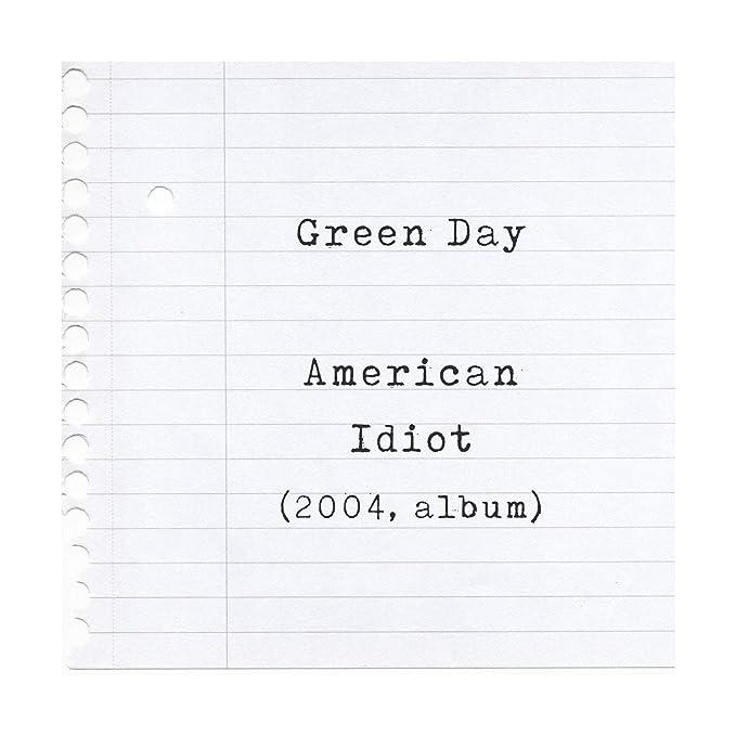 Green Day Poster Print - American Idiot - Letra firmada regalo arte cartel: Amazon.es: Hogar