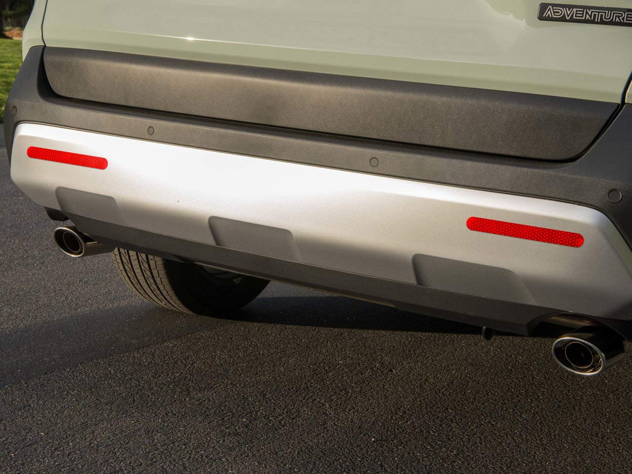 Block Bumper Reflector Self-Adhesive Ultra Reflective Safety Sticker Decal with Corrosion Resistant Aluminum Reduce Rear End Collisions with Zero Power Consumption