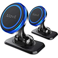 2-Pack Allovit Universal Adjustable Magnetic Car Phone Mount, Compatible with iPhone 11 Pro Xs Max XR X 8 7 Plus 6S SE, Galaxy S9 and More