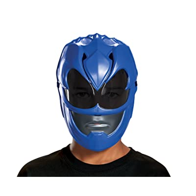 Disguise Blue Power Ranger Movie Mask, One Size: Toys & Games