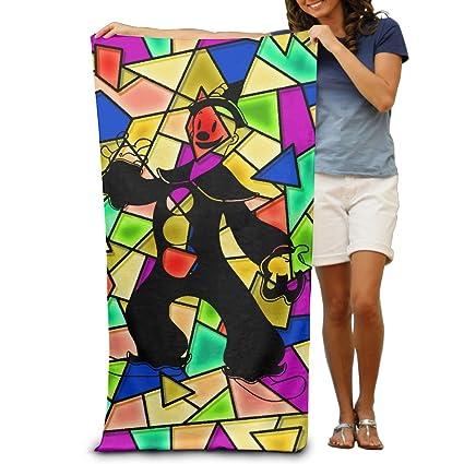 Bulk toallas de baño colorcartoon payaso en negro Pelele para adultos toallas de playa de soporte