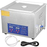 AW Pro Stainless Steel 15 L Liters 760W Ultrasonic Cleaner w/ Digital Heater Timer 6 Sets Transducers