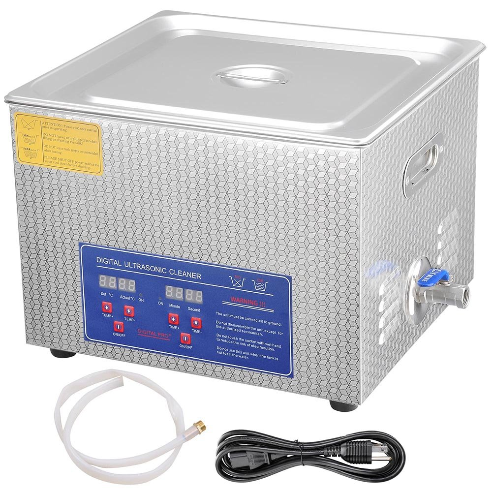 AW Pro Stainless Steel 15 L Liters 760W Ultrasonic Cleaner w/Digital Heater Timer 6 Sets Transducers by AW