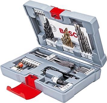 Bosch 2608P00233 - Caja de accesorios premium para taladrar y atornillar, 49 piezas: Amazon.es: Bricolaje y herramientas