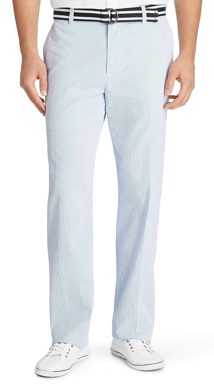 Izod Men S Sandybay Belted Seersucker Straight Fit Pant Blue