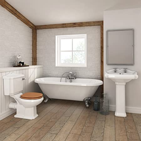Legend Traditional Roll Top Bathroom Suite 1695mm Amazon Co Uk Diy
