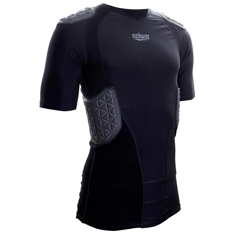Schutt Protech Tri Youth Protectiveフットボールシャツ B07B4JR1CN ブラック/グレー Medium Medium|ブラック/グレー
