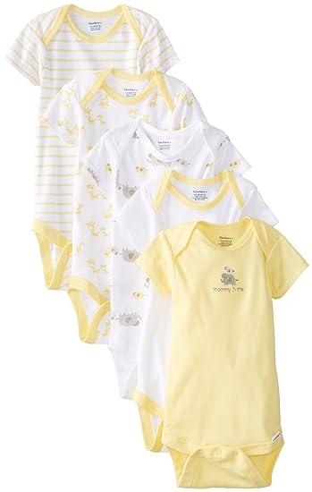 3fe9caa82 Amazon.com: Gerber Baby Girls' 5-Pack Variety Onesies Bodysuits ...