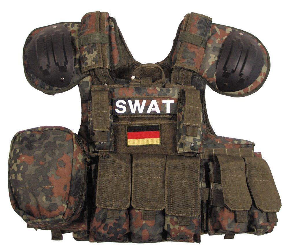 MFH Taschen, Weste, Combat diverse Taschen, MFH oliv, größenverstellbar 846d19