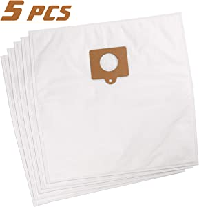 LotFancy 5pcs HEPA Cloth Vacuum Cleaner Bags Replacement for Kenmore Canister Vacuum Bags c/q 5055, 50557, 50558, 20-50104, 20-53291, 20-53292 and Panasonic C-5 & C-18 Canisters