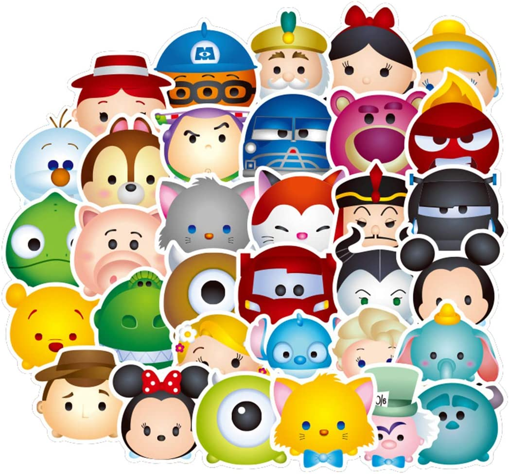 50Pcs Hot Disney Cartoon Character Stickers for Water Bottle Cup Laptop Guitar Car Motorcycle Bike Skateboard Luggage Box Vinyl Waterproof Graffiti Patches JKT