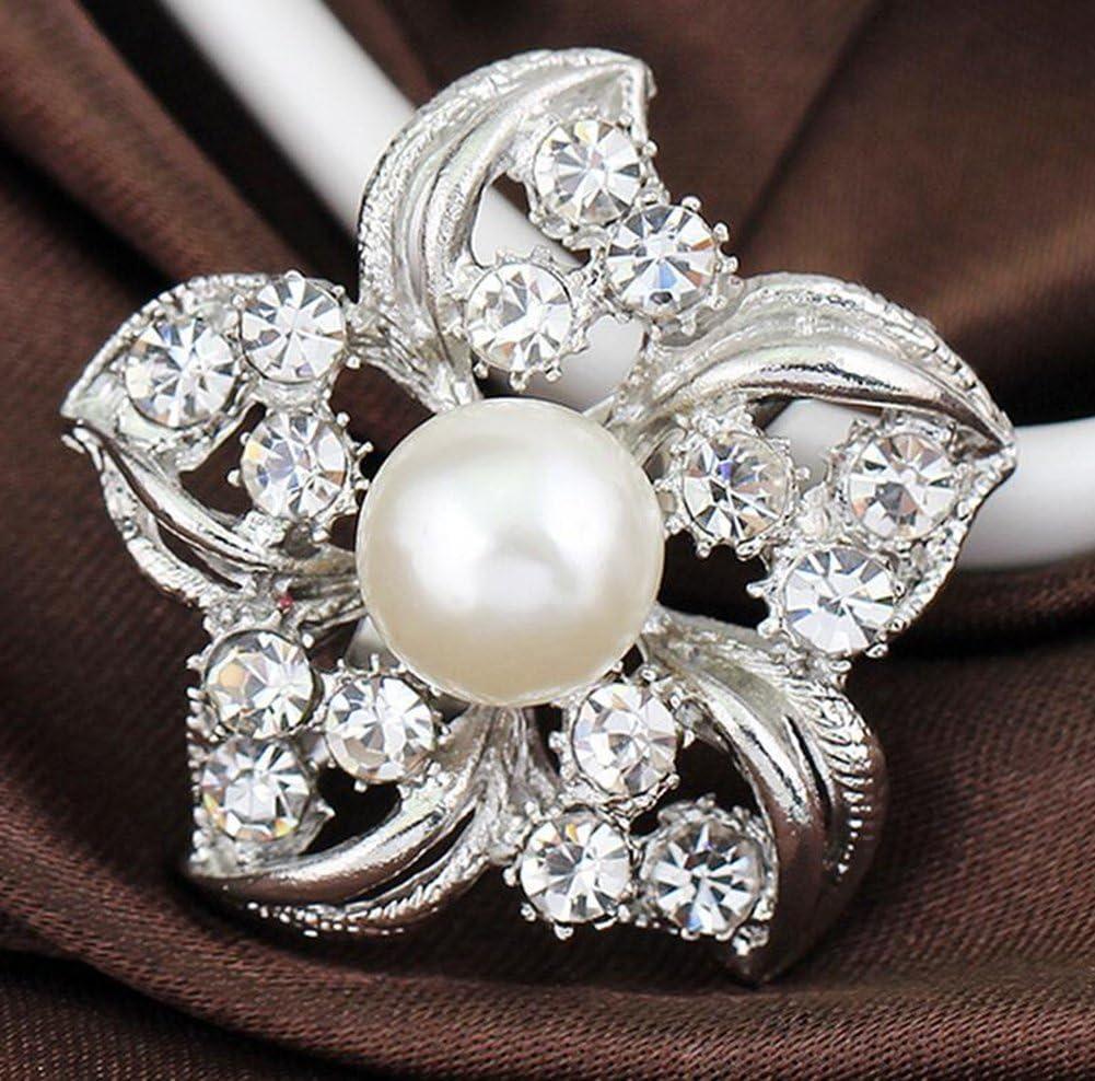 Femme Bijoux Broche Fleur Pins Broches Exquis Broche Strass Perle Corsage Bouquet V/êtement Broches Accessoires DaoRier