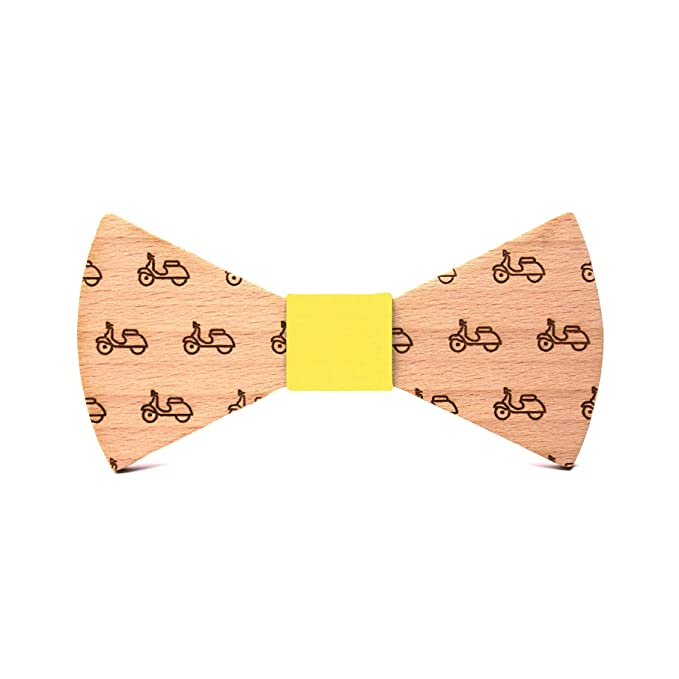Pajarita de madera La Vespa. Colección de moda hombre: Línea boda ...