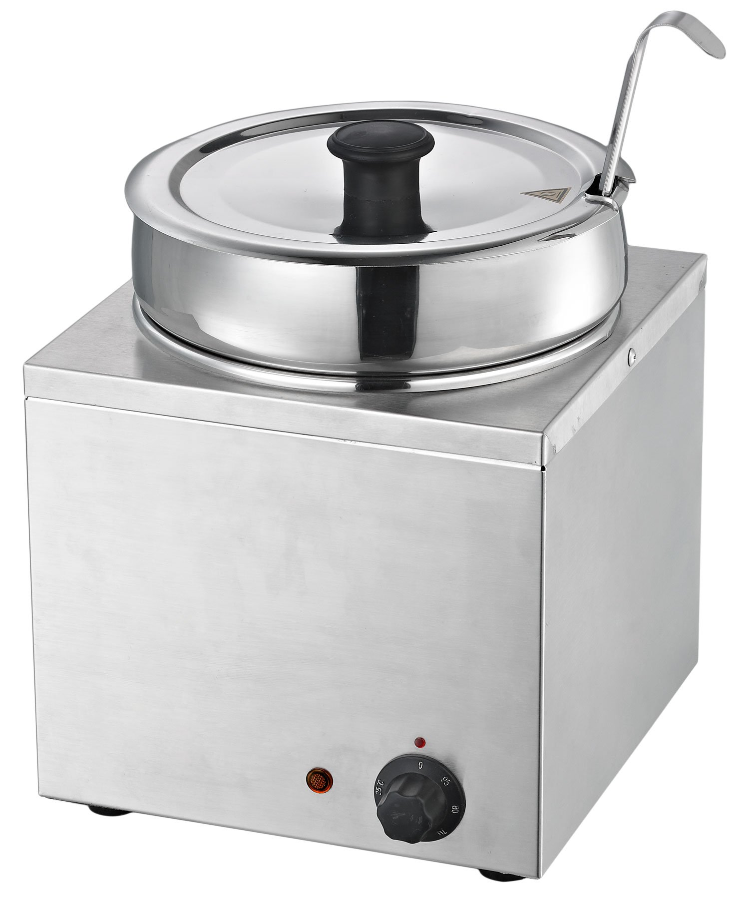 Chef's Supreme - 7 qt. Round Stainless Food Warmer w/ Insert and Lid