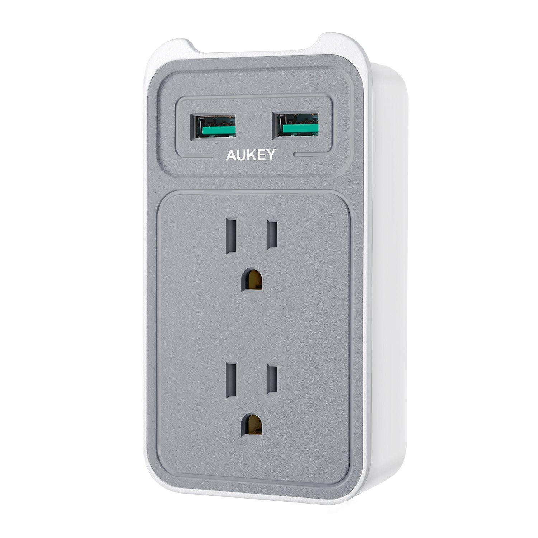 Amazon: $6.99 (Reg. $13.99) AUKEY USB Wall Outlet Plug Power Strip ...