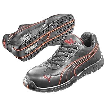 Puma 642620.38 Daytona Chaussures de sécurité Low S3 HRO SRC Noir (Noir.Rouge 210) 38