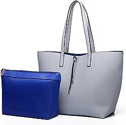 10fa1101d1328 Miss Lulu Handbags for Women Hobo Shoulder Bags Reversible Totes Purse Set  2 Pieces