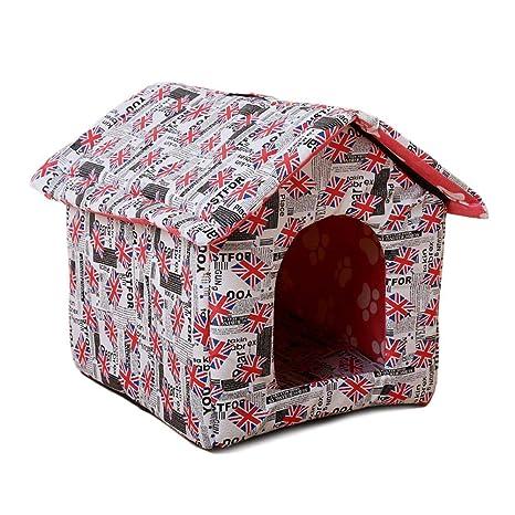 SinceY caseta para Perro, Nido Exterior portátil Impermeable de casa de Animal familier de caseta