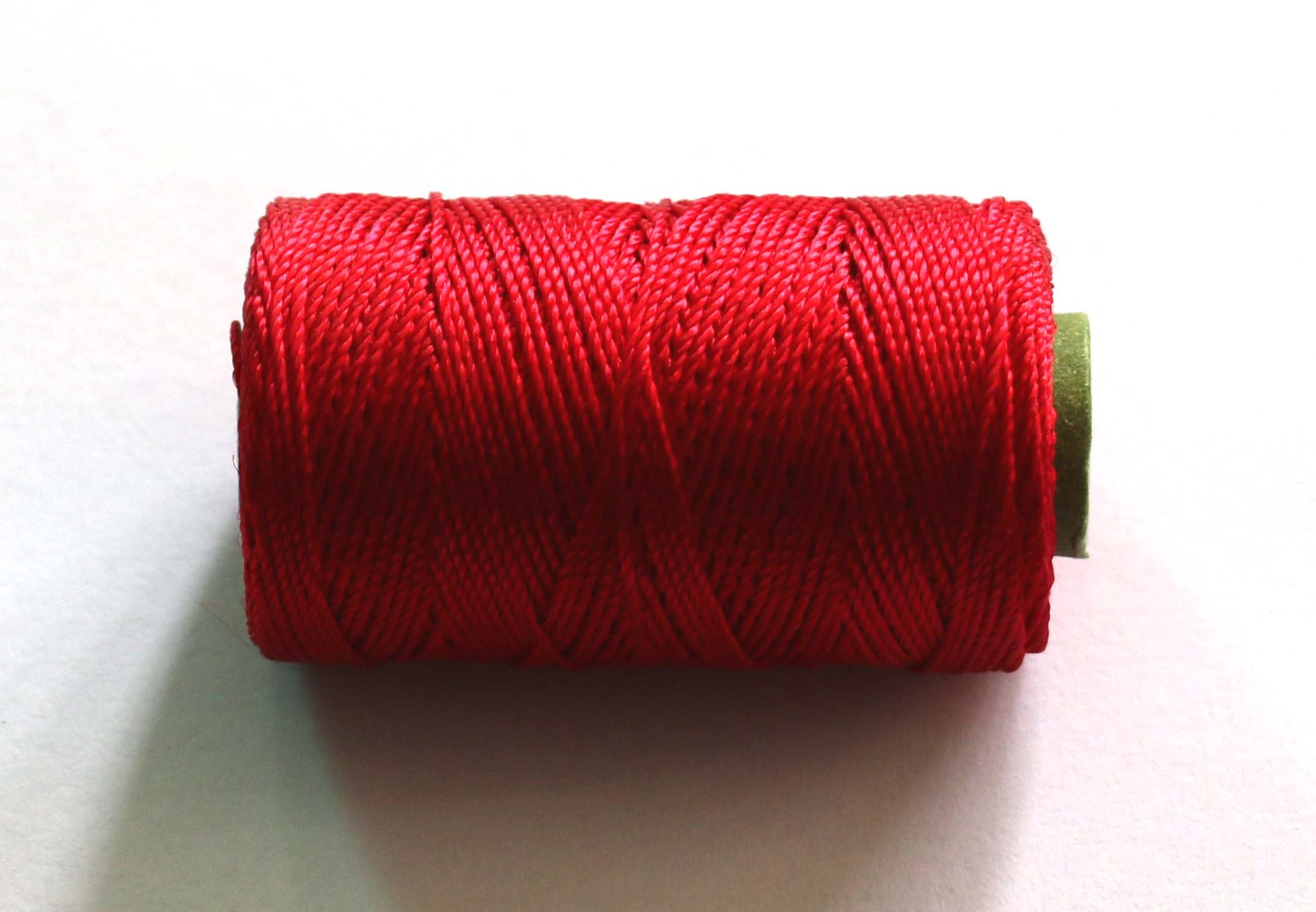 Velvet Thread for Flute, flute tying thread, Red colour, resham dori, D-25