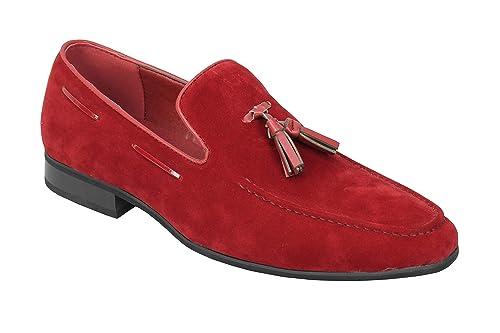 Xposed Borla de Ante sintético de Piel Hombre Smart Casual Formal conducción Slip On Zapatos: Amazon.es: Zapatos y complementos