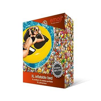 Emoji Inflable Flotador Cara Fresca XL, piscina y playa, Ø 140 cm