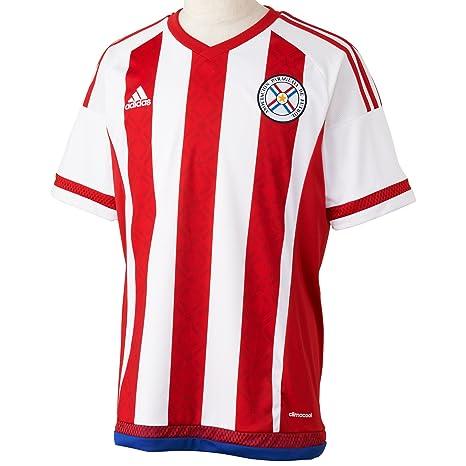 Adidas para Hombre de Manga Corta Camiseta de Paraguay Replica Jugador-del, Primavera/