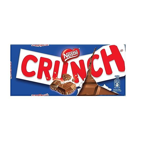 Nestlé CRUNCH - Tableta de Chocolate con Leche y Cereales - Tableta de Chocolate 20x100g