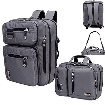 freebiz 17,3 pulgadas multifunción mochila maletín para portátil con asa y correa para el hombro ...