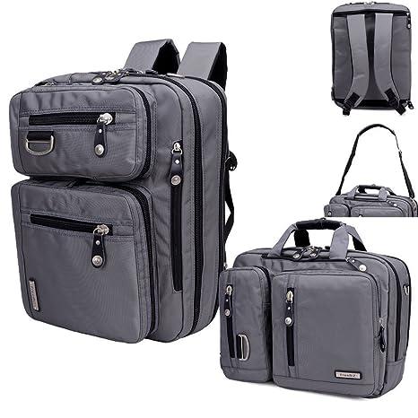 freebiz 17,3 pulgadas multifunción mochila maletín para portátil con asa y correa para el