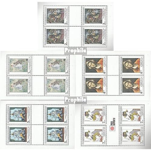 Tchécoslovaquie 3102-3106 Feuille miniature (complète.Edition.) 1991 Art (Timbres pour les collectionneurs)