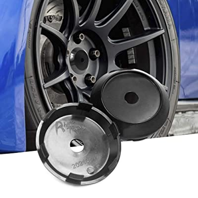4pcs 70mm(2.75in)/63mm(2.48in) Wheel Center Caps Black Base for Akita RPF1's 18 inch Rims Replacement: Automotive
