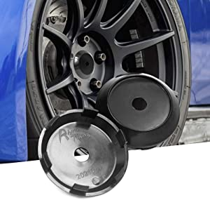 4pcs 70mm(2.75in)/63mm(2.48in) Wheel Center Caps Black Base for Akita RPF1's 18 inch Rims Replacement