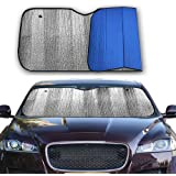 Big Hippo Front Car Sunshade Windshield-Jumbo/Standard Sun Shade Keeps Vehicle Cool-UV Ray Protector Sunshade-Easy to…