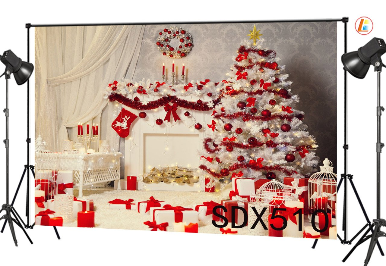 LB 7x5ft Christmas Tree Gifts Vinyl Photography Backdrop Decorative Customized Photo Background Studio Prop SDX510 by LB