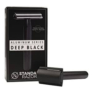 Standard Razors Aluminum Series Double Edge Safety Razor - Deep Black