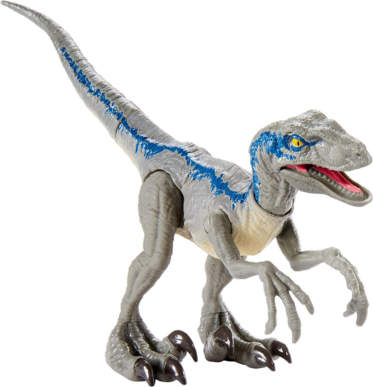 Jurassic ~ SAVAGE STRIKE VELOCIRAPTOR Azul World Figura de Acción ~ Dino rivales