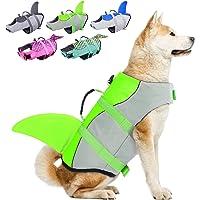 Dog Life Jackets, Ripstop Pet Floatation Life Vest for Small, Middle, Large Size Dogs, Dog Lifesaver Preserver Swimsuit…