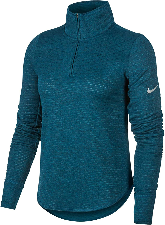 a lo largo Reunión Puro  Amazon.com: Nike Sphere Element Women's Half-Zip Running Top BV3012-347  Size S: Clothing