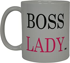 Best Funny Coffee Mug BOSS LADY Sarcastic Novelty Cup Joke Great Gag Gift Idea For Men Women Office Work Adult Humor Employee Boss Coworkers
