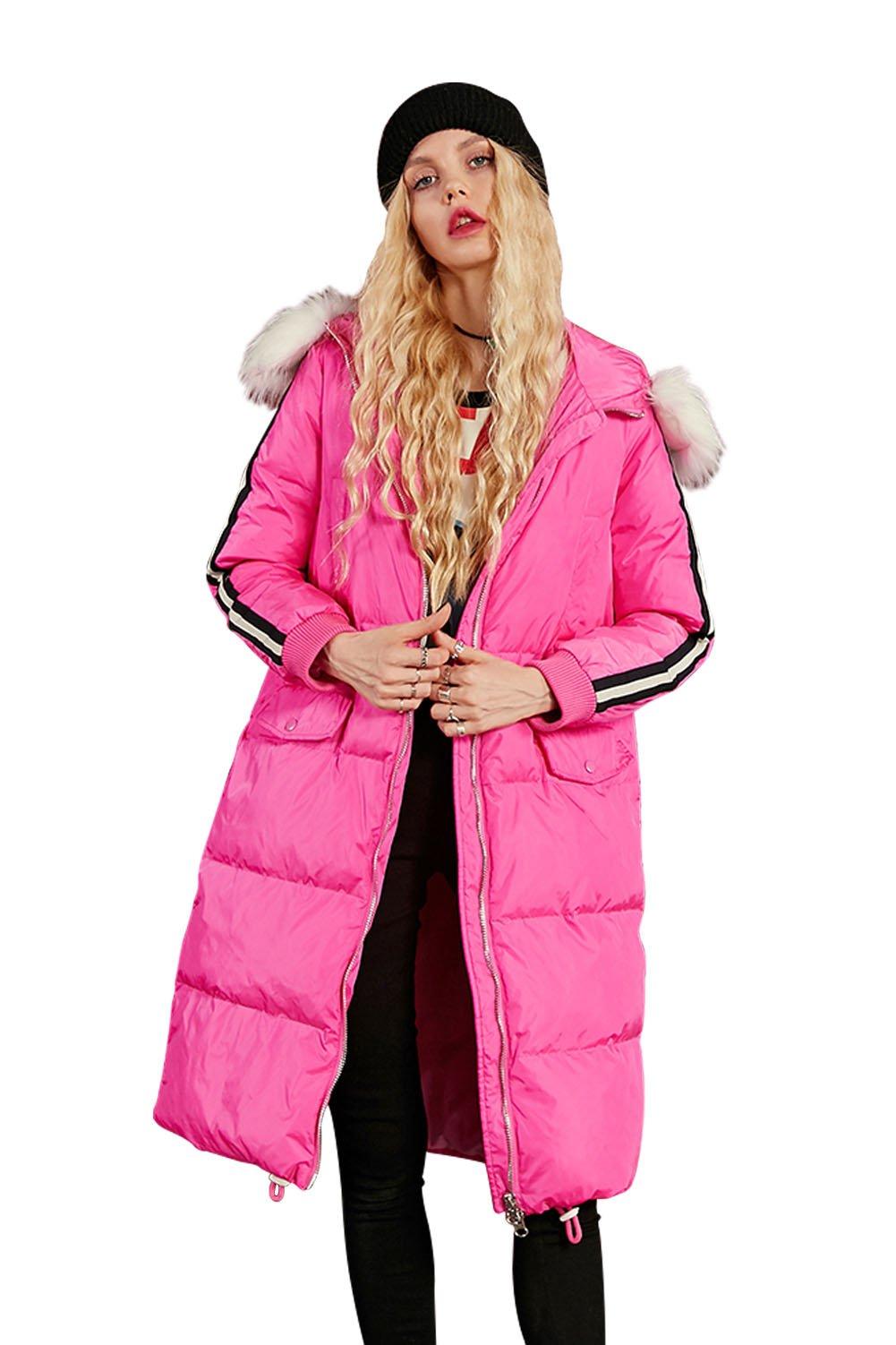 Elf Sack Women's Winter Down Jacket Coat with Detachable Hood